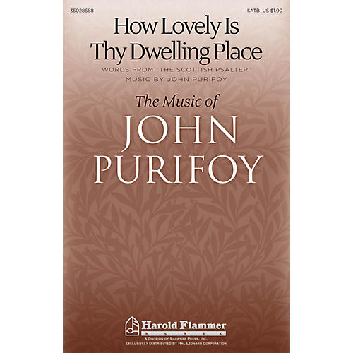 Shawnee Press How Lovely Is Thy Dwelling Place SATB composed by John Purifoy-thumbnail