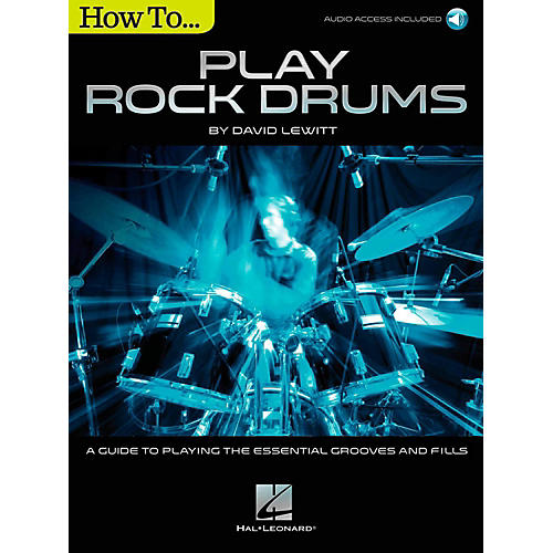 Hal Leonard How To Play Rock Drums (Book/Online Audio)-thumbnail