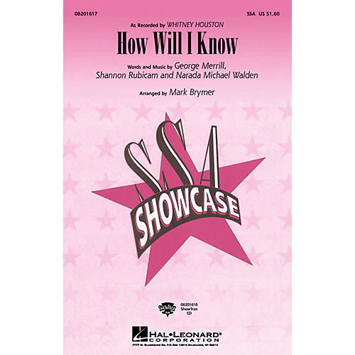 Hal Leonard How Will I Know ShowTrax CD by Whitney Houston Arranged by Mark Brymer