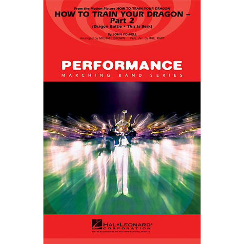 Hal Leonard How to Train Your Dragon - Part 2 Marching Band Level 4 Arranged by Michael Brown