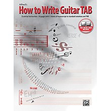 Alfred How to Write Guitar TAB Book & Online Video