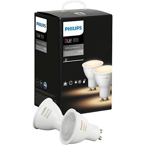 philips hue hue white ambiance gu10 2pk musician 39 s friend. Black Bedroom Furniture Sets. Home Design Ideas