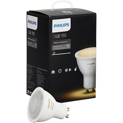 philips hue hue white ambiance gu10 single bulb musician 39 s friend. Black Bedroom Furniture Sets. Home Design Ideas