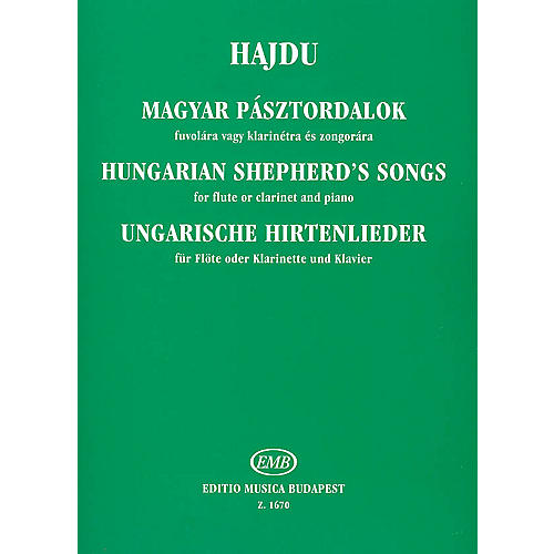 Editio Musica Budapest Hungarian Shepherd's Songs EMB Series by Mihály Hajdu-thumbnail