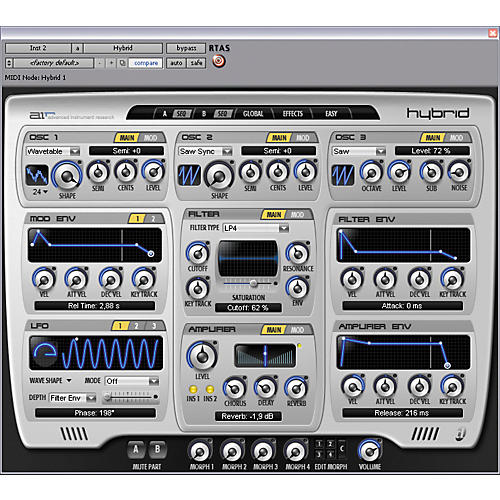 Digidesign Hybrid - High-Definition Synthesizer