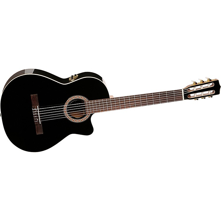 La PatrieHybrid CW Black Nylon String Guitar