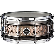 Crush Drums & Percussion Hybrid Hand Hammered Steel Snare Drum 13 x 7 in. Black Nickel