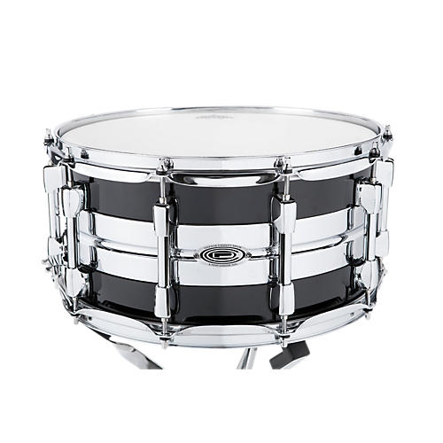 Orange County Drum & Percussion Hybrid Maple Steel Snare Drum Piano Black 7x14