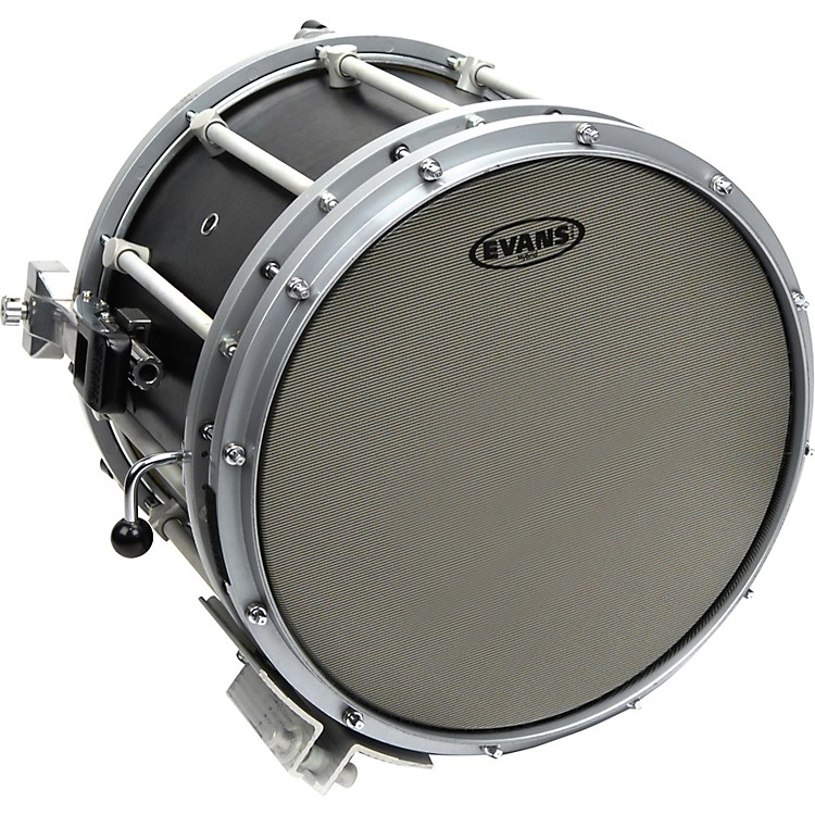 Evans Hybrid Marching Snare Drum Batter Head Grey 14in
