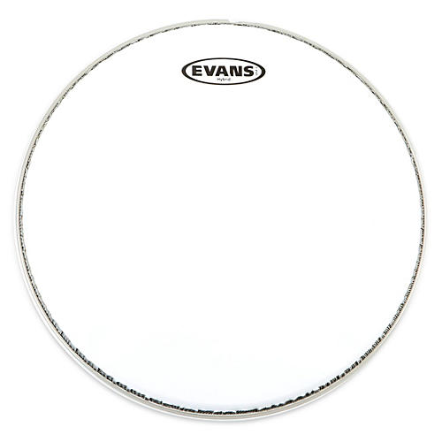 Evans Hybrid Marching Snare Drum Batter Head White 14