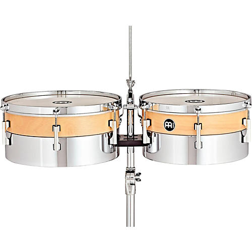 Meinl Hybrid Timbales with Height Adjustable Tripod Stand and Cowbell Holder-thumbnail
