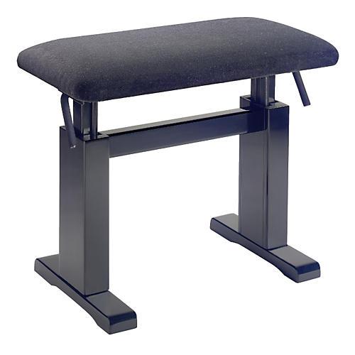 Musician's Gear Hydraulic Lift Piano Bench Black Velvet Top Black Matt Finish