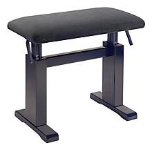 Musician's Gear Hydraulic Lift Piano Bench Black Velvet Top Rosewood Matt Finish