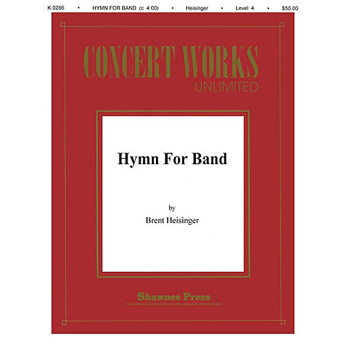 Shawnee Press Hymn for Band Concert Band Level 3 Composed by Heisinger-thumbnail