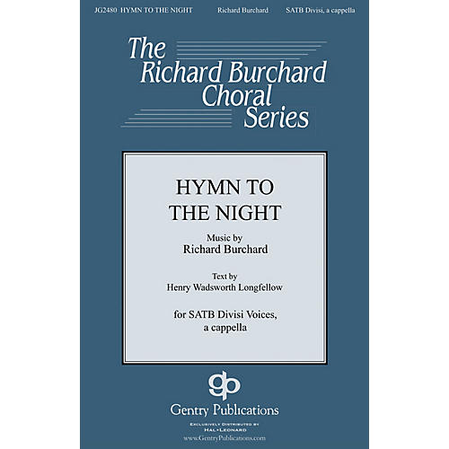 Gentry Publications Hymn to the Night SATB DV A Cappella composed by Richard Burchard-thumbnail