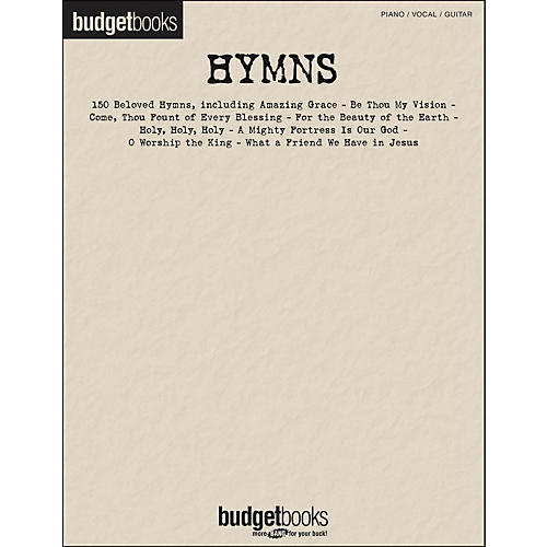 Hal Leonard Hymns - Budget Books arranged for piano, vocal, and guitar (P/V/G)