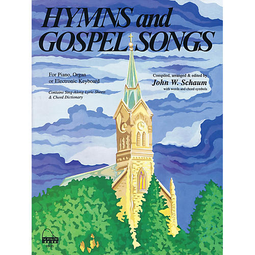 SCHAUM Hymns and Gospel Songs Educational Piano Book (Level Inter)-thumbnail