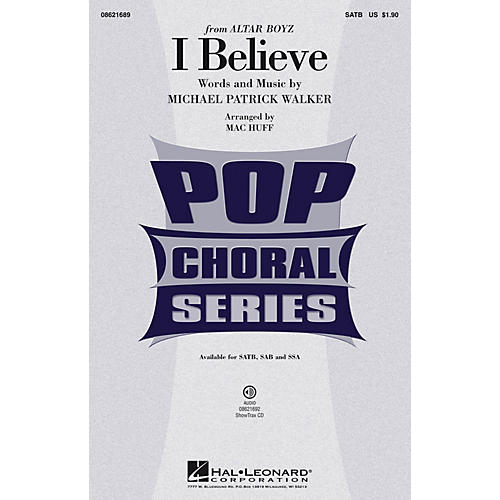 Hal Leonard I Believe (from Altar Boyz) ShowTrax CD Arranged by Mac Huff