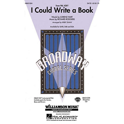 Hal Leonard I Could Write a Book SATB arranged by Kirby Shaw