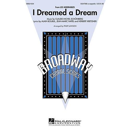 Hal Leonard I Dreamed a Dream (from Les Misérables) SATB DV A Cappella arranged by Philip Lawson-thumbnail