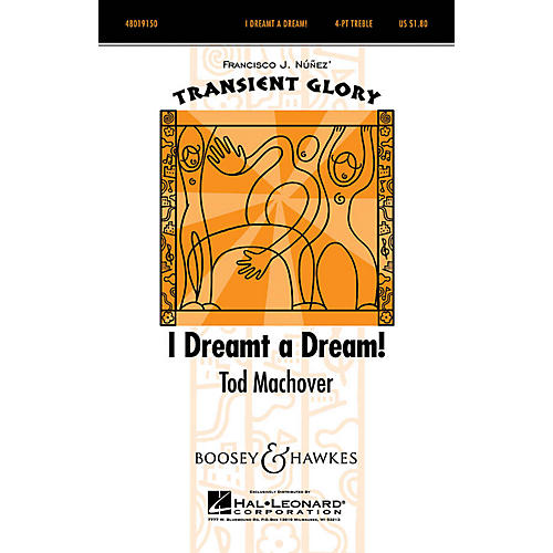 Boosey and Hawkes I Dreamt A Dream (Transient Glory Series) 4 Part Treble composed by Tod Machover