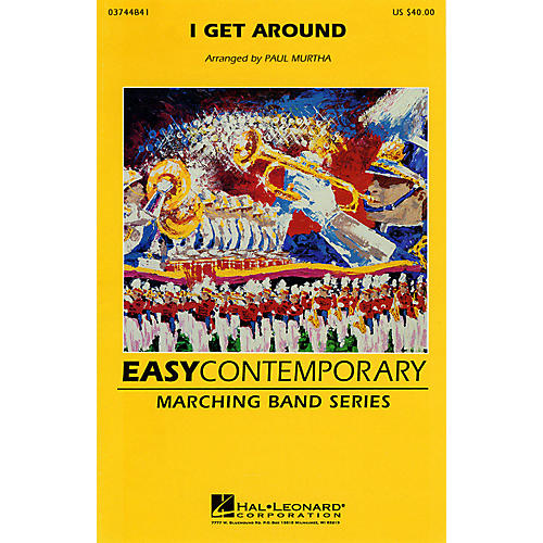 Hal Leonard I Get Around Marching Band Level 2-3 by The Beach Boys Arranged by Paul Murtha-thumbnail
