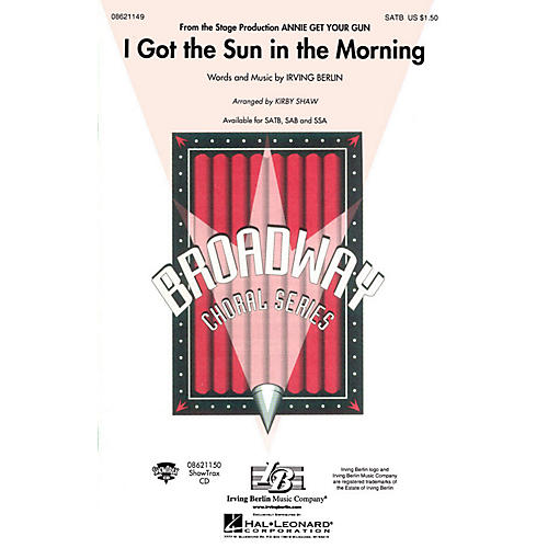Hal Leonard I Got the Sun in the Morning (from Annie Get Your Gun) SSA arranged by Kirby Shaw-thumbnail