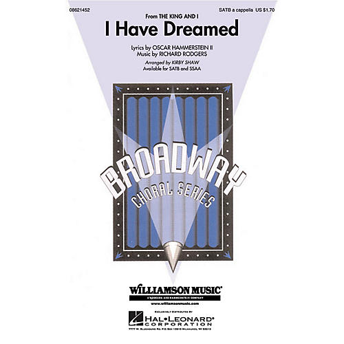 Hal Leonard I Have Dreamed (from The King and I) SATB a cappella arranged by Kirby Shaw-thumbnail