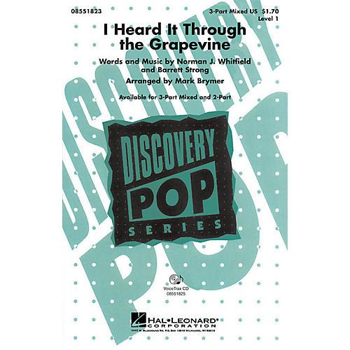 Hal Leonard I Heard It Through the Grapevine 3-Part Mixed arranged by Mark Brymer