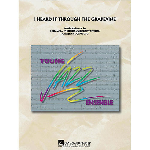 Hal Leonard I Heard It Through the Grapevine Jazz Band Level 3 by Marvin Gaye Arranged by John Berry-thumbnail
