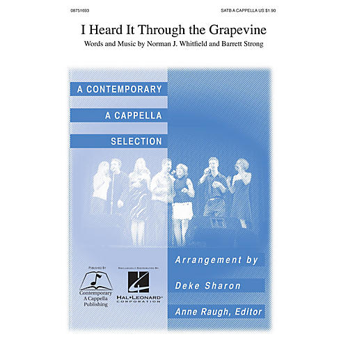 Contemporary A Cappella Publishing I Heard It Through the Grapevine SATB a cappella by Marvin Gaye arranged by Deke Sharon-thumbnail