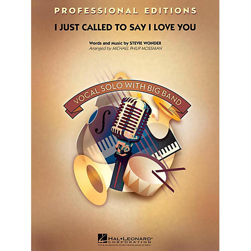 Hal Leonard I Just Called To Say I Love You Professional Edition with Vocal Solo Level 5-thumbnail