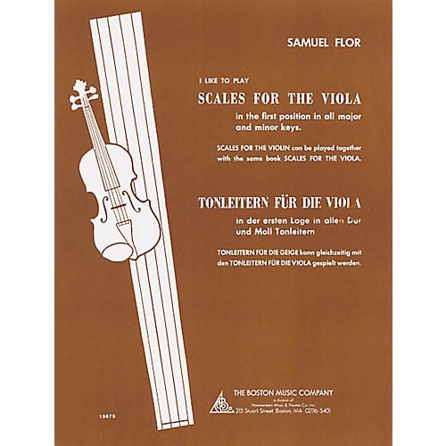 Boston Music I Like to Play Scales for the Viola Music Sales America Series Written by Samuel Flor-thumbnail