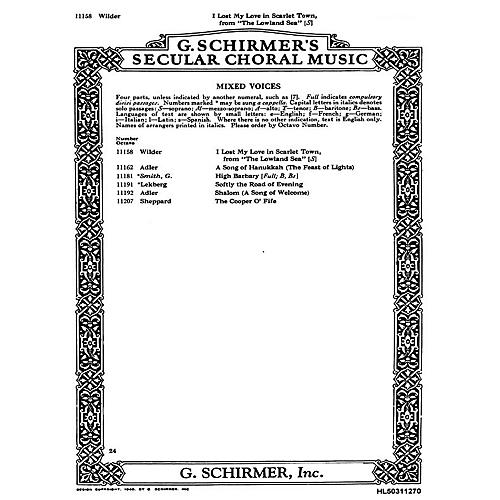 G. Schirmer I Lost My Love In Scarlet Town (From 'Lowland Sea') W/Piano-Sop Solo Alec Wild SATB composed by A Wilder-thumbnail