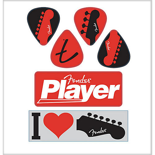 Fender I Love Fender Die-Cut Stickers (6 Pack)
