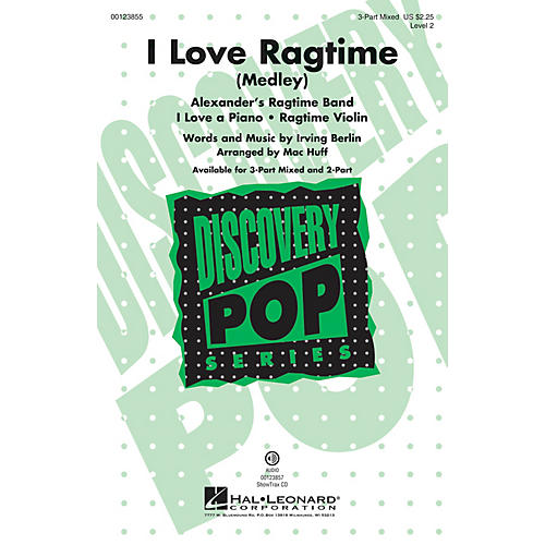 Hal Leonard I Love Ragtime (Medley Discovery Level 2) ShowTrax CD Arranged by Mac Huff