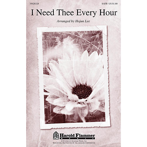 Shawnee Press I Need Thee Every Hour SATB arranged by Hojun Lee