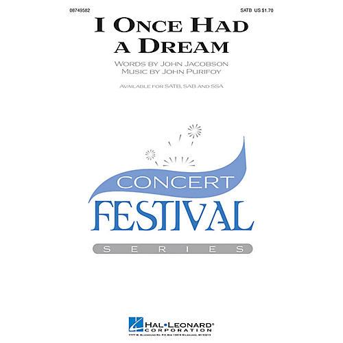 Hal Leonard I Once Had a Dream SAB Composed by John Jacobson-thumbnail