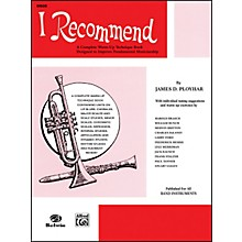 Alfred I Recommend Oboe