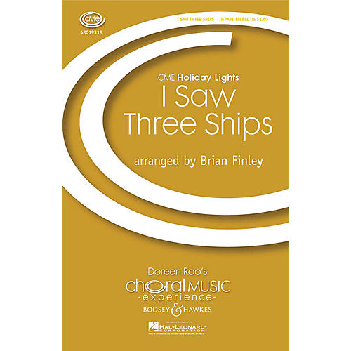 Boosey and Hawkes I Saw Three Ships (CME Holiday Lights) 3 Part Treble arranged by Brian Finley-thumbnail