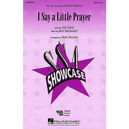 Hal Leonard I Say a Little Prayer SSA by Dionne Warwick arranged by Mark Brymer-thumbnail