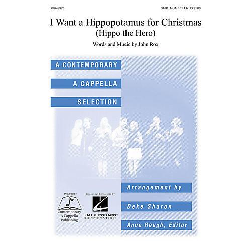 Contemporary A Cappella Publishing I Want a Hippopotamus for Christmas SATB a cappella arranged by Deke Sharon-thumbnail