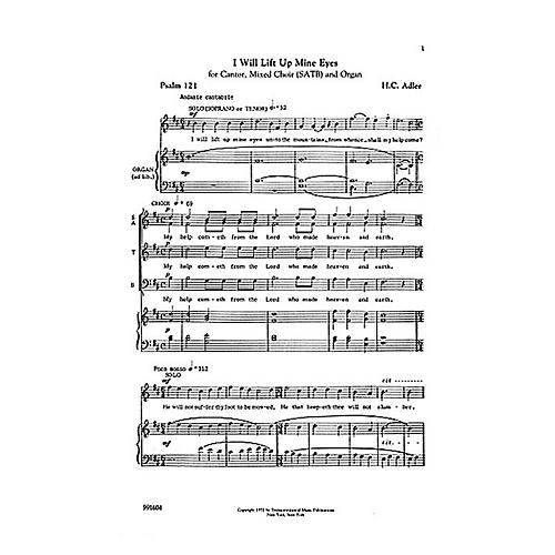 Transcontinental Music I Will Lift Up Mine Eyes SATB composed by Hugo Adler-thumbnail