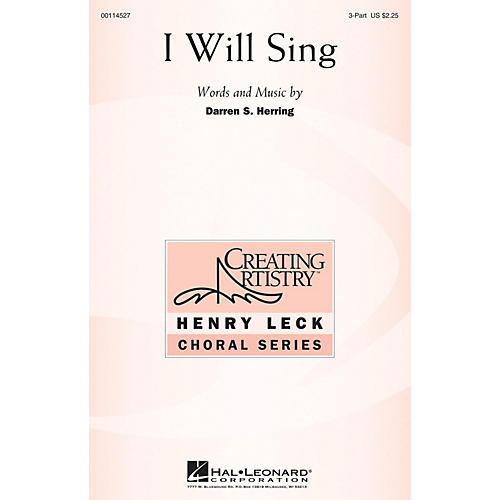 Hal Leonard I Will Sing 3 Part Treble composed by Darren S. Herring-thumbnail