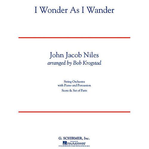 G. Schirmer I Wonder As I Wander String Orchestra Series Arranged by Bob Krogstad-thumbnail