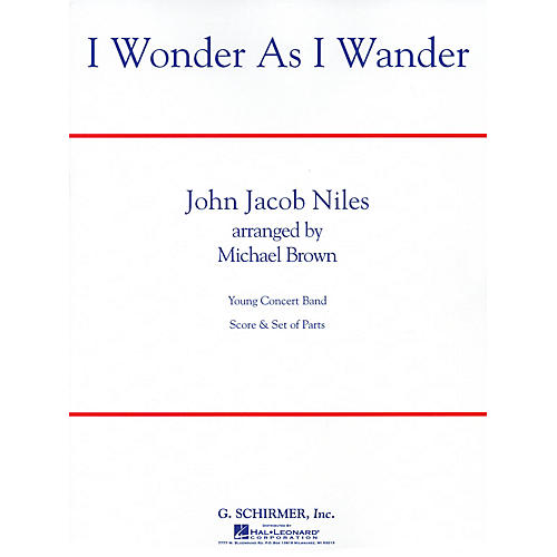 G. Schirmer I Wonder as I Wander Concert Band Level 2 1/2 Composed by John Jacob Niles Arranged by Michael Brown-thumbnail