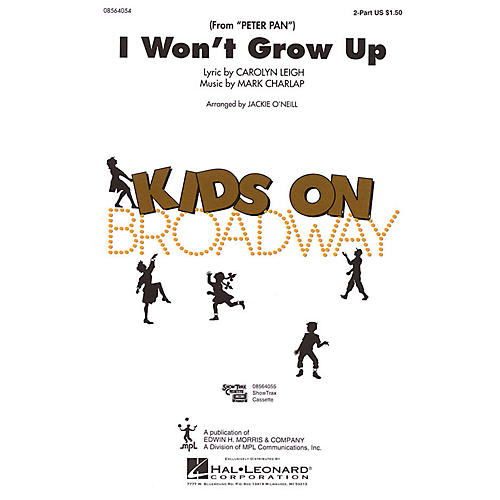 Hal Leonard I Won't Grow Up (from Peter Pan) 2-Part arranged by Jackie O'Neill-thumbnail