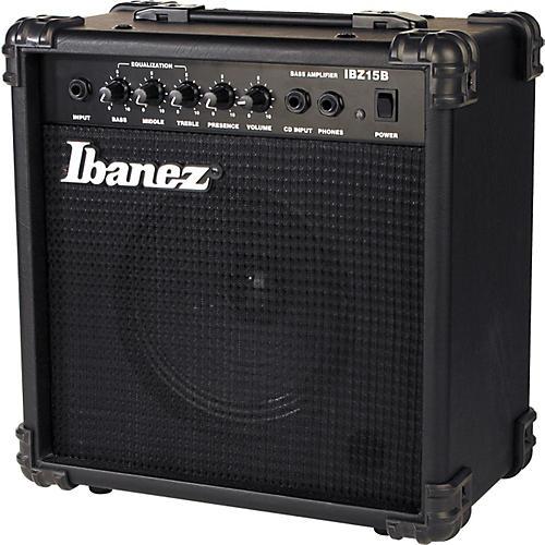 Ibanez IBZ Series IBZ15B 15W 1x6 Bass Combo Amp-thumbnail