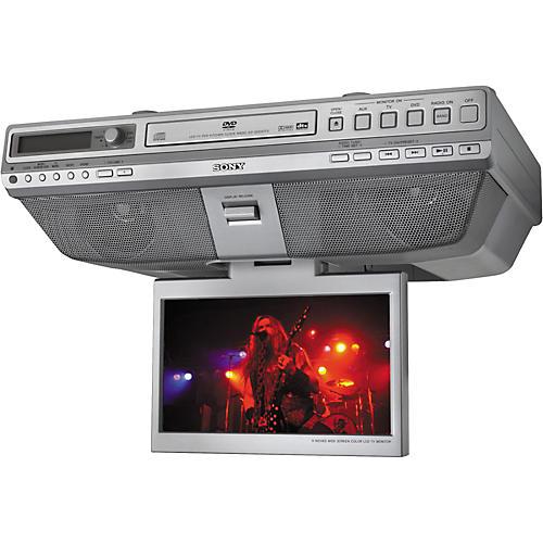 Sony ICF-DVD57TV Under Cabinet LCD-TV DVD/CD Clock Radio