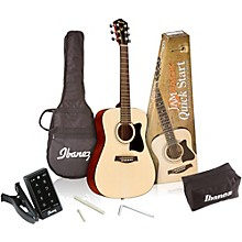 Open Box Ibanez IJV30 Quickstart 3/4 Acoustic Guitar Pack